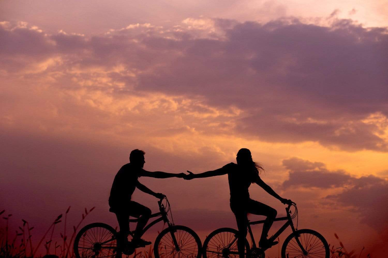 balade à vélo pour le premier rendez-vous