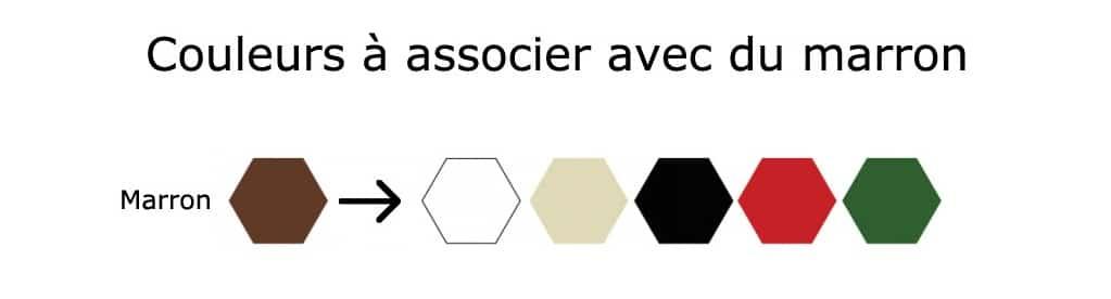 couleur pour associer avec du marron