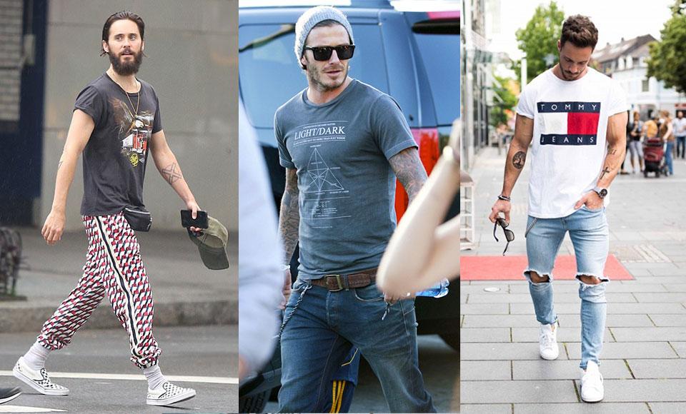 bien porter le tee-shirt à motif pour un homme
