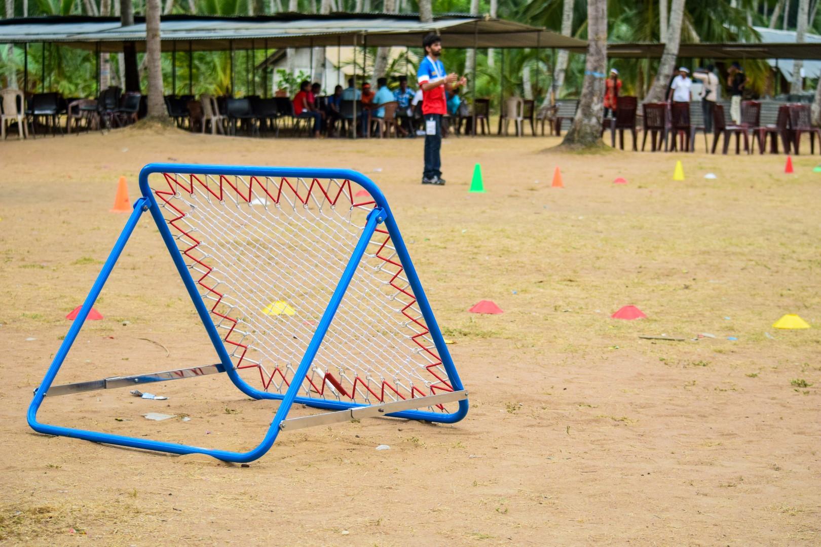 trampoline incliné tchoukball